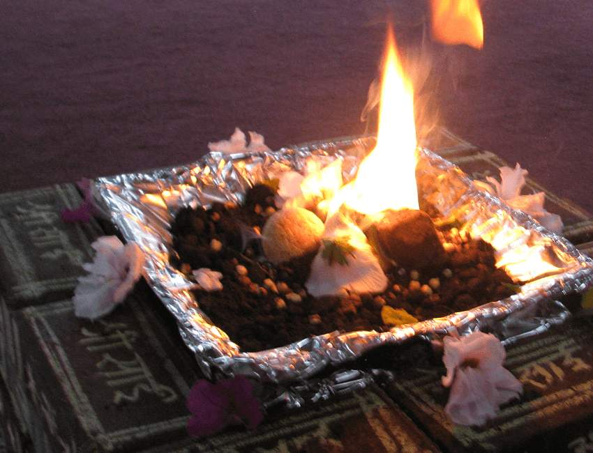 Havan Kund at Temple